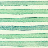 Watercolor striped background green and yellow colors Royalty Free Stock Photo