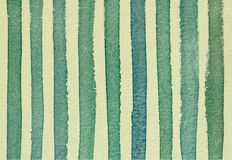 Watercolor striped background vintage green and yellow colors fo Royalty Free Stock Photos