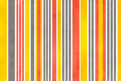 Watercolor striped background. Watercolor yellow, salmon pink and gray striped background Royalty Free Stock Photo