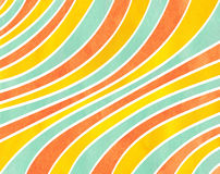 Watercolor striped background. Stock Photos