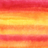 Watercolor striped gradient background - orange, pink, yellow. Royalty Free Stock Photos