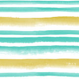 Watercolor striped seamless pattern royalty free stock images