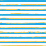 Watercolor striped seamless pattern Stock Photo
