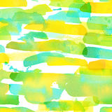 Watercolor stripes - colorful abstract seamless pattern stock illustration