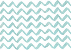 Watercolor stripes background, chevron. Royalty Free Stock Photos