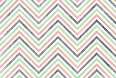 Watercolor stripes background, chevron. Watercolor pink, mint green and acryl silver stripes background, chevron vector illustration