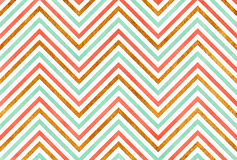 Watercolor stripes background, chevron. Royalty Free Stock Photos
