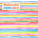 Watercolor stripes. Bright colored horizontal stripes watercolor Royalty Free Stock Photography