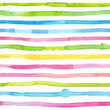 Watercolor stripes - colorful abstract seamless pattern vector illustration