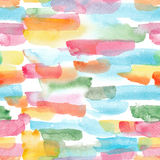 Watercolor stripes - colorful abstract seamless pattern Royalty Free Stock Images