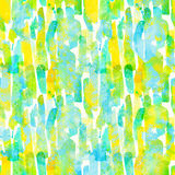 Watercolor stripes - colorful abstract seamless pattern Stock Photography
