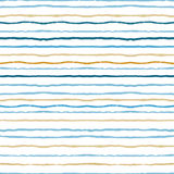 Watercolor stripes strokes seamless pattern Stock Photos