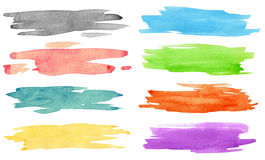 Watercolor strokes Stock Images