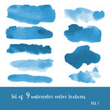 Watercolor strokes and blobs Stock Images