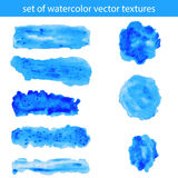 Watercolor strokes and blobs Stock Image