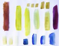 Watercolor Strokes Stock Photo
