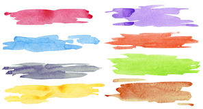Watercolor strokes Royalty Free Stock Images