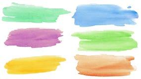 Watercolor strokes Royalty Free Stock Photos