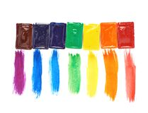 Watercolor strokes and paint cases Stock Photos