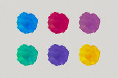 Watercolor strokes Royalty Free Stock Photo
