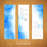 Watercolor style background design for banners set vector illustration