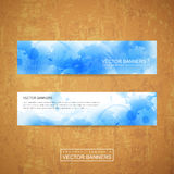 Watercolor style background design for banners set Stock Images