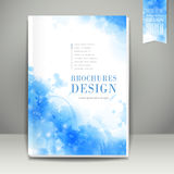 Watercolor style background design for book cover stock illustration
