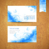 Watercolor style background design for business card royalty free illustration