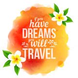 Watercolor style orange stain with sign and Stock Images