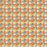 Watercolor succulents, cactus and living stones seamless pattern. Stock Images