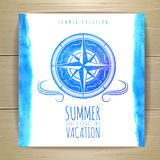 Watercolor summer typography design Royalty Free Stock Image