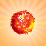Watercolor sun Royalty Free Stock Photography