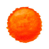 Watercolor sun, vector illustration Royalty Free Stock Photography
