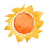 Watercolor sun Stock Image