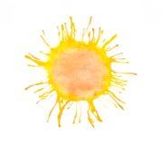 Watercolor sun Stock Image