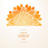 Watercolor sunflower. Vector background Royalty Free Stock Images