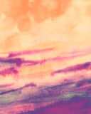 Watercolor sunset abstract texture background Royalty Free Stock Images