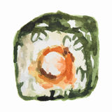 watercolor sushi roll. Stock Image