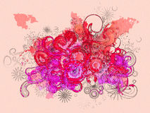 Watercolor swirls Stock Photos