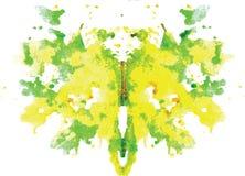 Watercolor symmetrical Rorschach blot Stock Photos