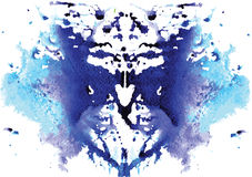 Watercolor symmetrical Rorschach blot Stock Photo