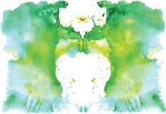 Watercolor symmetrical Rorschach blot Stock Images