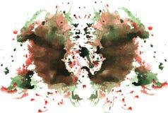 Watercolor symmetrical Rorschach blot royalty free stock image