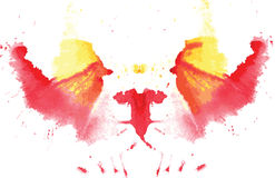 Watercolor symmetrical Rorschach blot Royalty Free Stock Photos