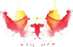 Watercolor symmetrical Rorschach blot royalty free stock photos