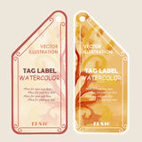 Watercolor tags label. Vector illustration. Stock Images