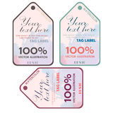 Watercolor tags label. Vector illustration. Royalty Free Stock Image