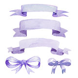 Watercolor tape and bow Royalty Free Stock Photos