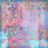Watercolor tapestry pastel grunge background. Soft floral tapestry watercolor background for scrapbooking, blended textural look Royalty Free Stock Photo