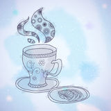 Watercolor Teacup Royalty Free Stock Images